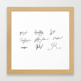 Signatures of Les Amis de L'ABC Framed Art Print