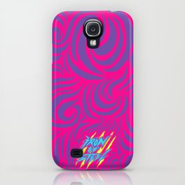 IRON of STEEL Pink on Purple  iPhone Case