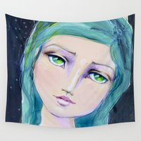 bali Wall Tapestries featuring Dreamer by Jane Davenport by Jane Davenport