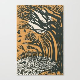 The runaway hare Canvas Print