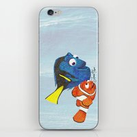 finding nemo iPhone & iPod Skins featuring Finding Nemo by Larissa