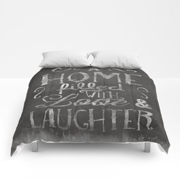 A home with laugh and laughter Comforters
