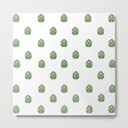Green Easter Eggs Wall Art Decor Metal Print