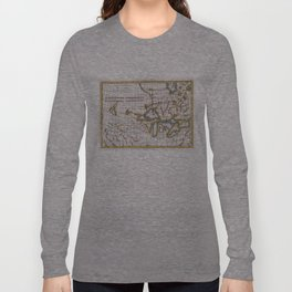 Vintage Map of The Great Lakes & Canada (1780) Long Sleeve T-shirt