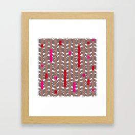 TRIBAL CHEVRON | mauve red Framed Art Print