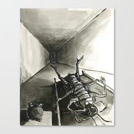 Help I'm a Bug and I can't get up! Canvas Print