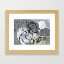 Talking loud, aint saying nothing Framed Art Print