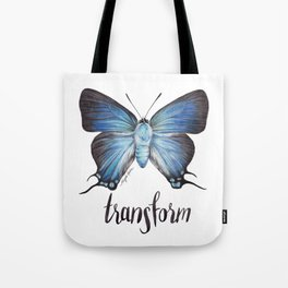 Butterfly - The Great Purple Hairstreak - ATLIDES HALESUS by Magda Opoka Tote Bag