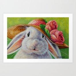 Bunnies and Bonnets No. 1 Art Print