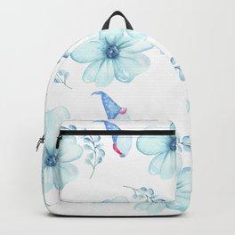 Renaissance Magic Gnome Blue Flowers Backpack