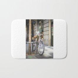 Miss bicycle Bath Mat