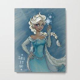 Elsa: Let it Go! Metal Print