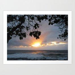 LAST SUNSET AT TURTLE BAY Art Print