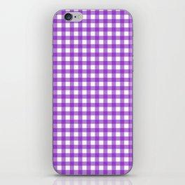 Violet Gingham iPhone Skin