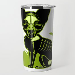 Zombie dead cat furniture Design by diegoramonart Travel Mug