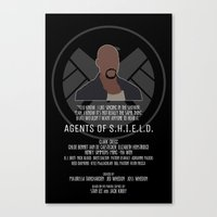agents of shield Canvas Prints featuring Agents of S.H.I.E.L.D. - Mac by MacGuffin Designs
