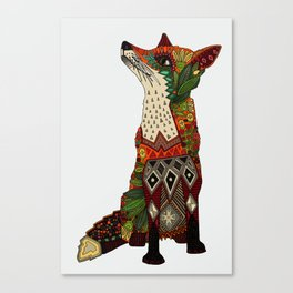 fox love off white Canvas Print