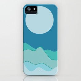 Wave of mountain iPhone Case