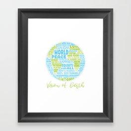 Vision of Earth - World Cloud Framed Art Print
