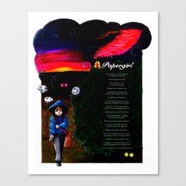 Papergirl Canvas Print