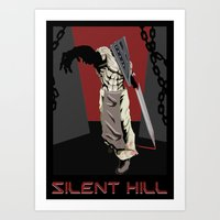 silent hill Art Prints featuring Silent Hill Propoganda by JonnyHinkleArt