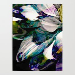 Fluid Nature - Marbled Daisy - Acrylic Pour & Photography Poster