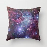 nebula Throw Pillows featuring Nebula Galaxy by RexLambo