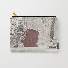 Red Barn on a Snowy Day Carry-All Pouch