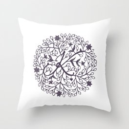 K - monogrammed initial K print Throw Pillow