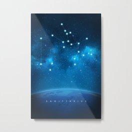 Sagittarius: Astrological Art Metal Print