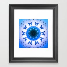 All things with wings (blue) Framed Art Print