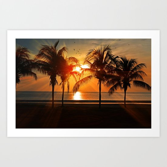 Sunset in the Tropical Islands Art Print