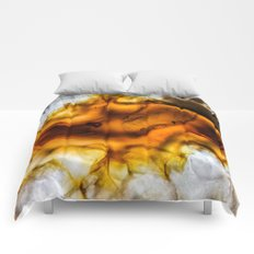 Honey Amber Agate frozen in time Comforters