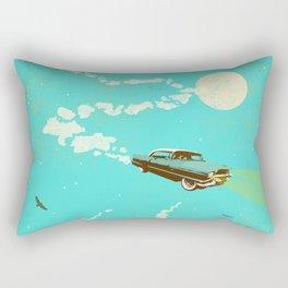 VINTAGE FLYING CAR Rectangular Pillow