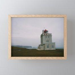Dyrhólaey Lighthouse, Iceland Framed Mini Art Print
