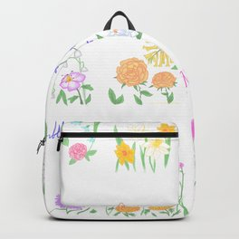 Birthday Month Flowers Backpack
