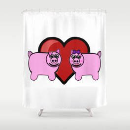 Piggy Love Shower Curtain