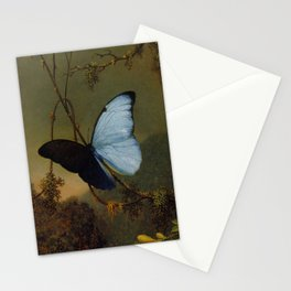 Blue Morpho Butterfly 1865 By Martin Johnson Heade | Reproduction Stationery Cards