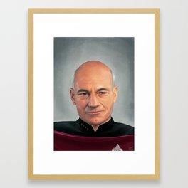 Captain Jean Luc.  Framed Art Print