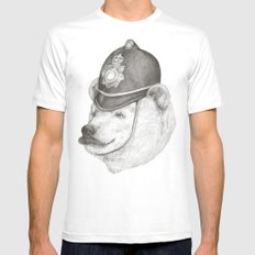 Bearly Legal Mens Fitted Tee MEDIUM White