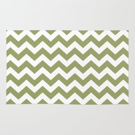 Green Safari Chevron Rug