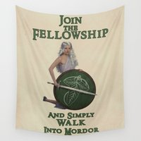 lotr Wall Tapestries featuring Simply Walk Into Morder by Seth Rutledge