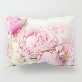 Peonies on white Pillow Sham
