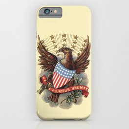 Coat of Arms of USA 1898 eagle and star badge vintage hand drawn illustration iPhone Case