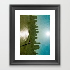 Baseball Sky Framed Art Print