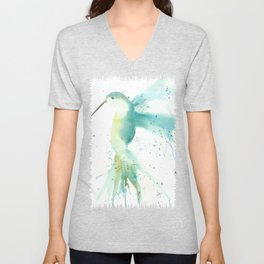 Blue Hummingbird Unisex V-Neck