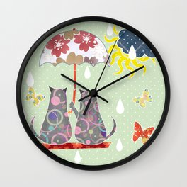 """A series of """" Favorite pillow """".Cats love. Wall Clock"""
