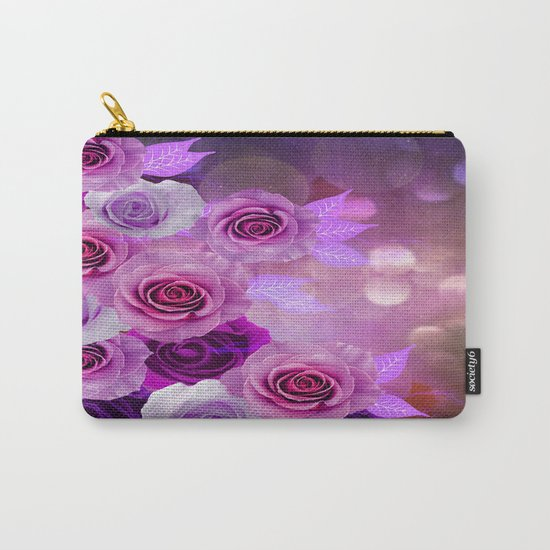 Rose Glow Abstract Carry-All Pouch
