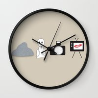 rocky horror Wall Clocks featuring Rocky Horror Picture Show Picture Show by karebear0025