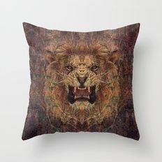 Old Lion Throw Pillow